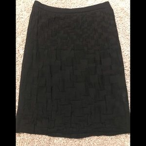 M Missoni black knit skirt